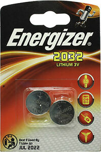 4 x Energizer CR2032 BR2032, SB-T15 3V Lithium Coin Cell Battery