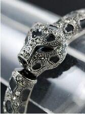Leopard Bangle Crystal Bracelet Rhinestone Crystal Cuff