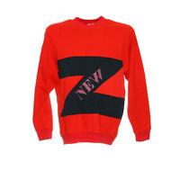 Damen Vintage Pullover Größe L Retro Langarm Shirt Sweatshirt Rundhals Rot