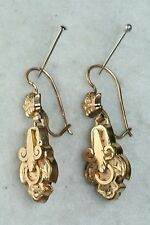 VICTORIAN ANTIQUE GOLD FILLED DANGLING EARRINGS