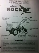 Ariens ROCKET Original s/n# 1M-00801-up Tiller Parts Manual 4pg  Rear Tine 1962