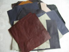 LEATHER SQUARES FOR CRAFTS - 24 SIX INCH SQUARES-CHOICE OF- COLORS-FREE SHIPPING