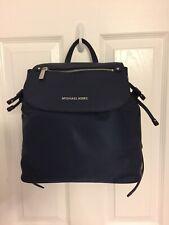 Michael Kors Bedford Zip Large Nylon Backpack, Navy/Silver/NWT/ $248