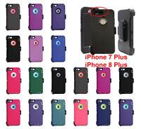 For Apple iPhone 7 Plus 8 Plus Case Cover (Belt Clip Fits Otterbox Defender)