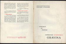 "GENNEVILLIERS (92) CONSTRUCTION MECANIQUE ""CHENARD & WALCKER"" Embrayage GRAVINA"