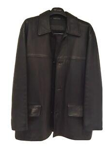 Mens Oroton Leather Jacket - Medium