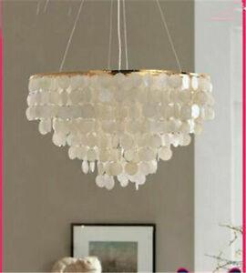 LED Nordic chandelier shell pendant light bedroom living room restaurant lamp