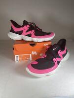 Nike Free RN 5.0 Mens Running Shoes 10 AQ1289-601 Pink Blast Black