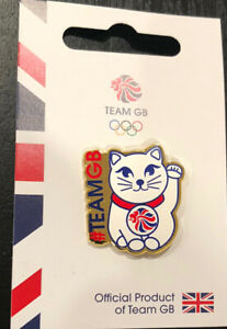 Tokyo 2020 2021 NOC Olympic Pin Lucky Cat Team Great Britain GB NOC Maneki-neko