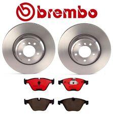Front Disc Brake Rotors Set & Brake Pads Brembo For BMW E90 E92 E93 335i 335xi