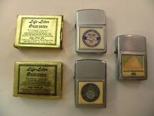 Lot of 3 Life-Liter Cigarette Lighters (All Ritepaint Models with Union Themes)