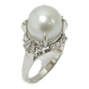 JEWELRY Pearl Ring Pt900 Platinum Pearl White Used #12