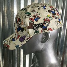 Nintendo Super Mario Bro 3 Baseball Cap Hat Ivory Flex fit One Size Fit Most