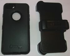 Otterbox Defender Case + Holster for Apple iPhone 6, Black, for Touch ID, NEW