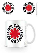 RED HOT CHILI PEPPERS MUG WHITE NEW GIFT BOXED 100 % OFFICIAL MERCHANDISE