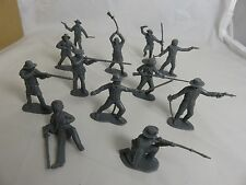 Classic Toy Soldiers 1/32nd plastic Alamo Texan Defenders 12 figures (Grey)