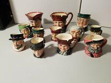 Royal Doulton Toby Mugs Mini Lot of 12