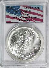 PCGS MS69 1987 Silver American Eagle WTC Ground Zero Recovery 9-11-01 NR B854