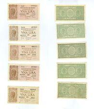 5 banconote da 1 lira  23-11-1944