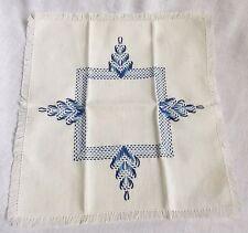 Embroidered Napkin Cottage Industry Program Hand Crafted in Korea Vintage