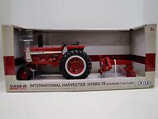 International Harvester Hydro 70 w/Blade 1/16th Ertl Diecast Tractor Case IH Toy