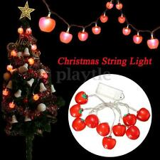 10LED Apple Shaped String Fairy Light Lamp Christmas Tree Waterproof Party Decor