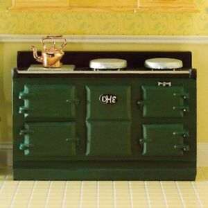 1/12 Scale Dolls House Emporium Large Green Aga-style stove 2960