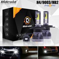 2x H4 9003 CREE LED Headlight High Low Beam Bulbs 200W 300000LM 6000K White Lamp