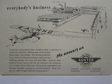 7/1947 PUB AUSTER STEEL AEROPLANE AIRCRAFT AVION TRAINER AUTOCRAT ORIGINAL AD