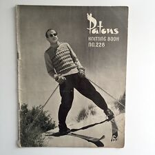 Patons Knitting Book No 228 9 Patterns for Men Jumper Cardigan Vest Fair isle