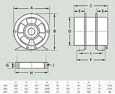 ALLVENT A100 INLINE DUCT FAN 250MM 31W 230L/SEC METAL