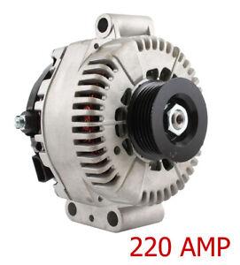 NEW 220A HIGH AMP ALTERNATOR FITS FORD F250 SUPER DUTY 6.0L 03-06 3C3T-CA 3C3TCB