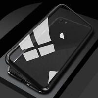 Magnetic Adsorption Metal Tempered Glass Case For Apple Samsung Oneplus Huawei