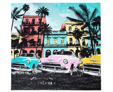 RETRO HOME Havana Vintage Cars QUEEN BED QUILT COVER BNIP buildings