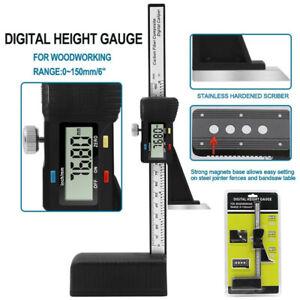 Height Gauge 0-150mm/6in Electronic Digital Height Vernier Caliper Marking Ruler