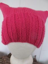 Rose Pink Pussy Hat AS SEEN ON SNL! - Hand-Knit Charity Gift / Women's March