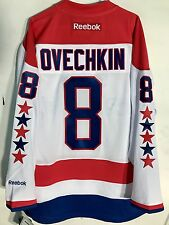 Reebok Premier NHL Jersey Washington Capitals Alexander Ovechkin White sz 2X
