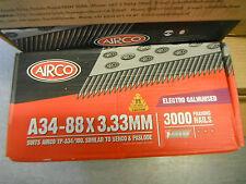 34 Degree Senco Paslode 3.3x90mm Galvanised Framing Strip Nails 3000 Box
