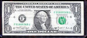 1988A $1 Web Press Note FU F-U Block Run 09 Combo 04/06 F51668368U NR!