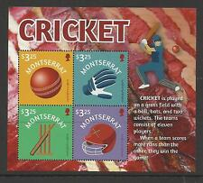 MONTSERRAT 2016 CRICKET Sheetlet of 4 values MNH