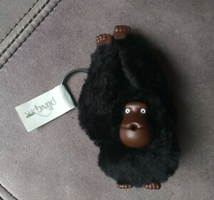 Kipling Monkey Keychain Gorilla Black Key Ring