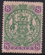 RHODESIA 1897 ARMS 8D CURLED SCROLL