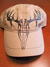 Tan Mossy Oak Baseball type cap with Deer Head l by Signatures Black under bill