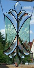 Bleiverglasung Facetten- Fensterbild mit Cracklet- Echt Antikglas in Tiffany