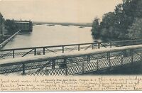 POTSDAM NY – Racquette River from Bridge – udb (pre 1908)