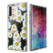 For Samsung Galaxy Note 10 Plus + Cute Daisy Flower Design Double Layer Case