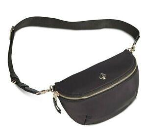 KATE SPADE NEW YORK Taylor Nylon Belt Bag Fanny Pack NEW NWT Black