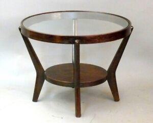 Rundes Tischchen Art Deco  Design J. Halabala - Tschechien