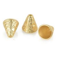 5 Gold Jhumki Charms Tassel Caps Bead Caps 28x22mm fin0857