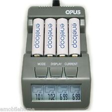 Opus BT-C700 LCD 4 Slot Smart Lithium Ion NiMH AA AAA Battery Charger EU PLUG